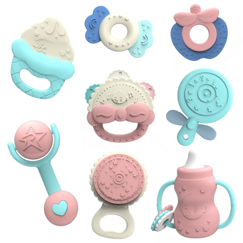Baby Teether Rattle Toys for Baby 0-12 / 13-24 Months