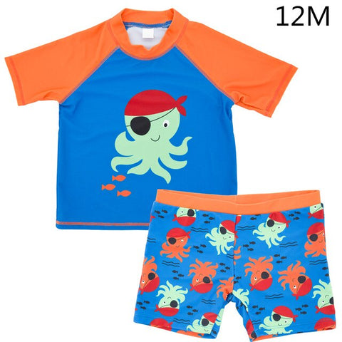 2019 Cartoon Newborn Baby Boys Swimming Wear Diapers