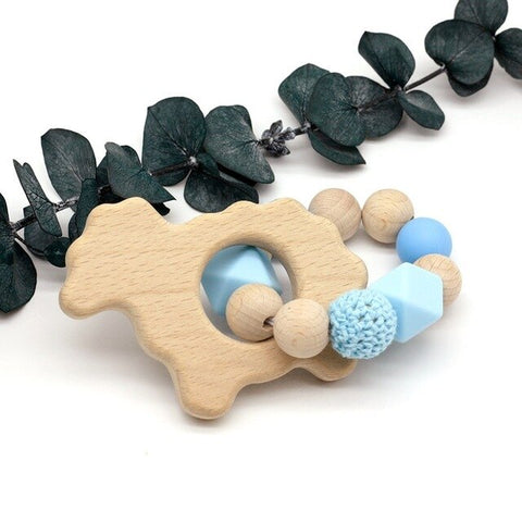 10 Style Baby Organic Wood Nursing Bracelets Wood Teether