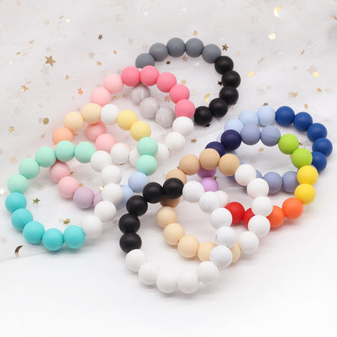 Silicone Teether Bracelet Baby Teether Silcone Bracelet Accessories