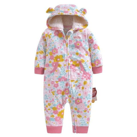 Newborn Baby Winter Hoodie Clothes Jumpsuit New Spring Romper
