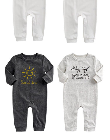 2019 Simple Style Baby Boys and Girls Clothes 100% Cotton