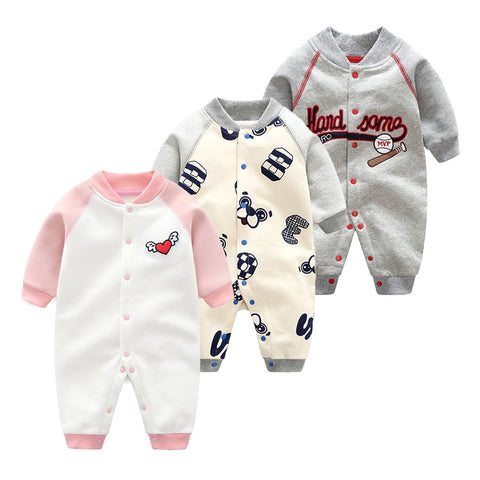 New Spring Baby Boys and Girls Long Sleeved Jumpsut