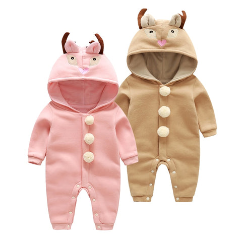 Newborn Baby Boys ans Girls Cartoon Rompers
