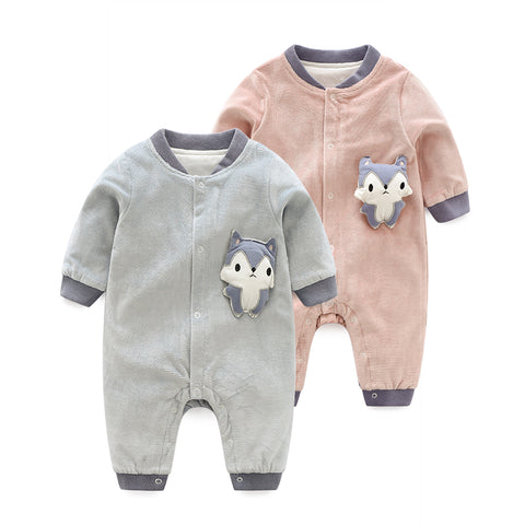 Newborn Baby Boys and Girls Outwear Clothes Autumn Pure Cotton Rompers
