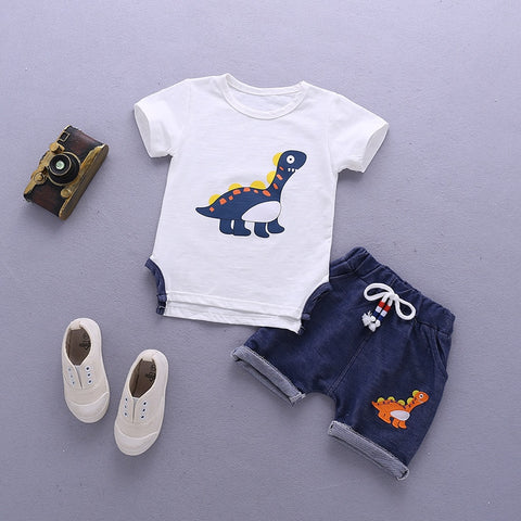 Baby Boys Summer Clothing Set T-shirt+Short Pants