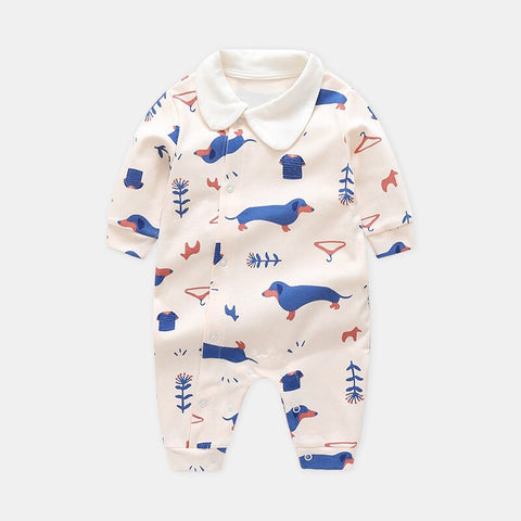 Autumn New Baby Boys and Girls Long Sleeve Rompers