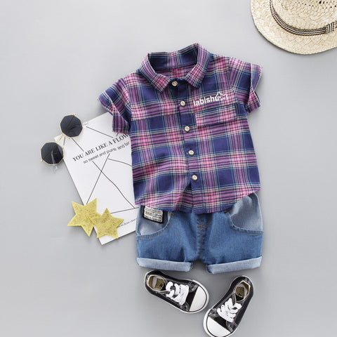 Baby Boys 2019 New Clothing Sets Summer Newborn Baby Cotton Coats+Short Pants 2pcs