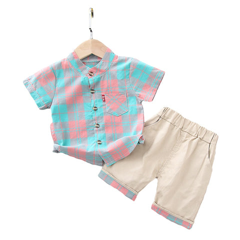 Baby Boys Summer Clothing Sets Newborn Baby Cotton shirts+shorts 2pcs