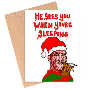 Freddy Krueger Christmas Card