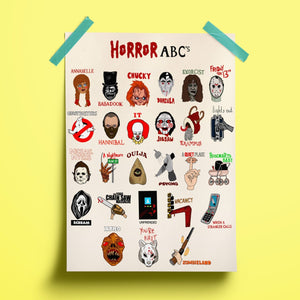 Horror ABCs Print - Siyo Boutique