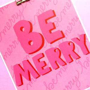 Be Merry Print - Siyo Boutique