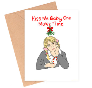 Britney Mistletoe Christmas Card