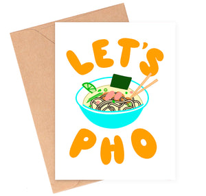 Let's Pho Love Card