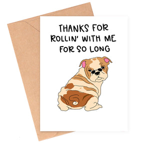 Rollin' With Me Love Card