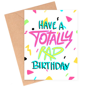 Totally Rad Birthday Card