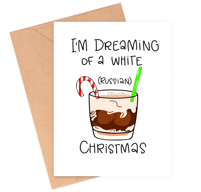 White Russian Christmas Card