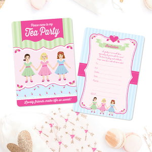 High Tea Invitations - Set of 12