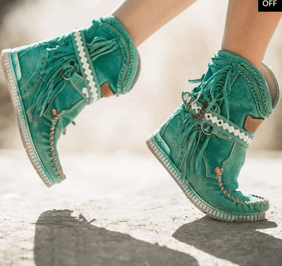 2019 New Women's Tassel Faux Suede Winter Boots(60% Off +Free Shipping)
