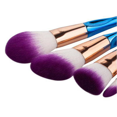 8 Piece Rainbow Mermaid Brush Set