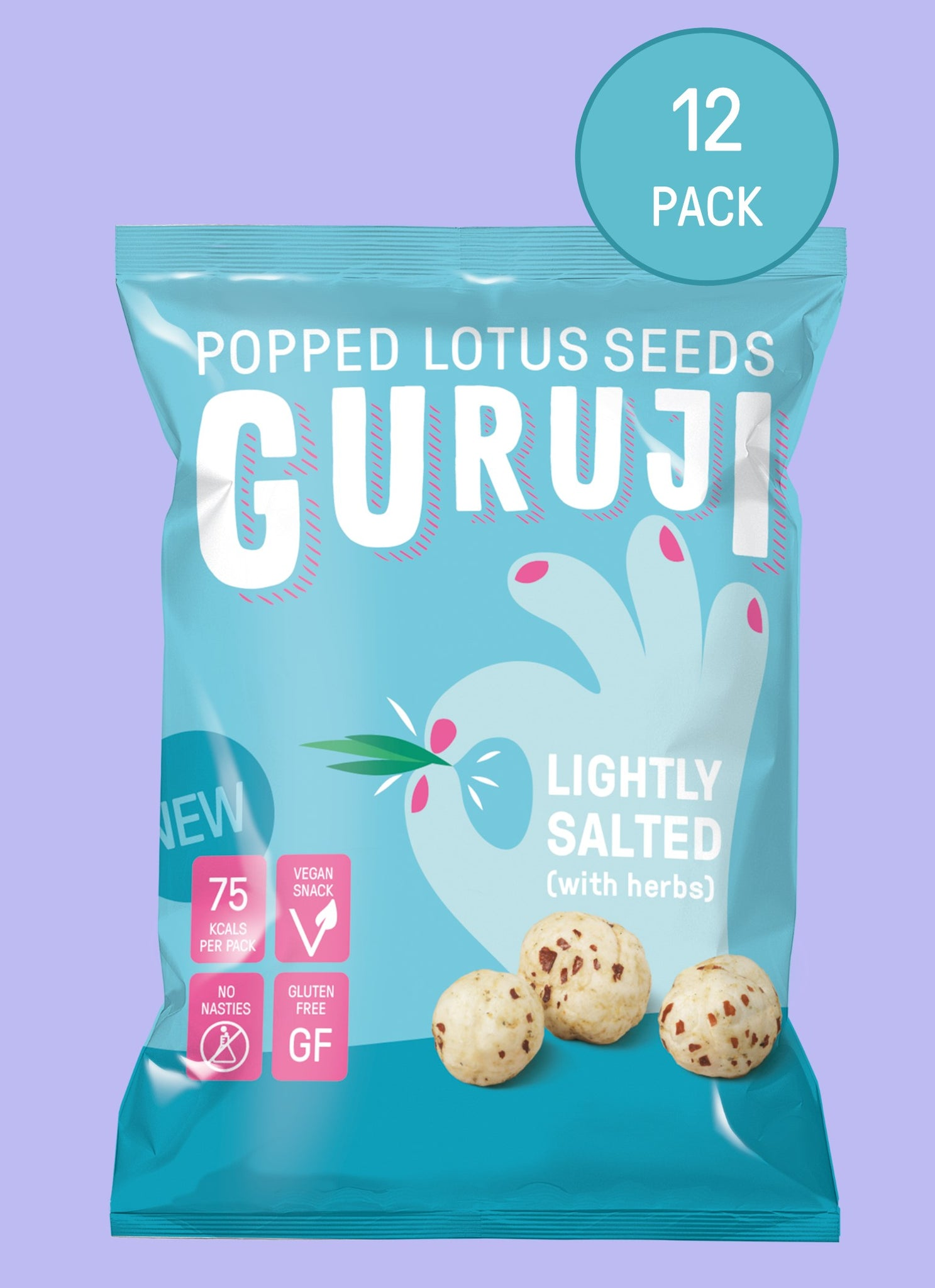 Lightly Salted 12 x 17g Packs - Guruji Snacks