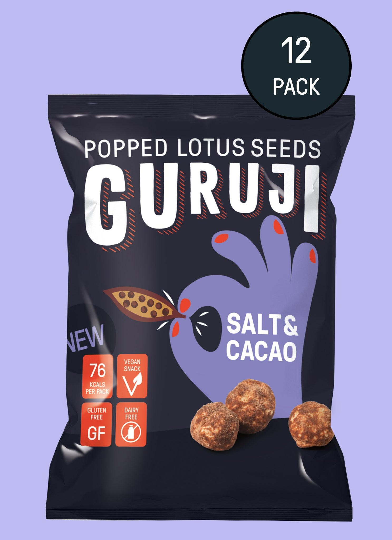 Salt & Cacao 12 x 17g Packs - Guruji Snacks