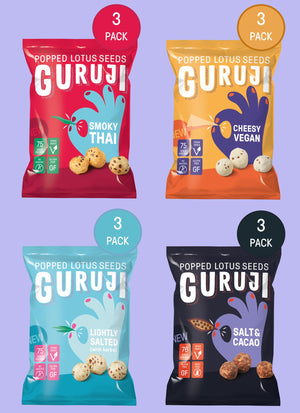 Flavour Mix - 12 x 17g Packs - Pops Guruji Snacks
