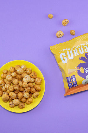 Cheesy Vegan 12 x 17g Packs - Pops Guruji Snacks
