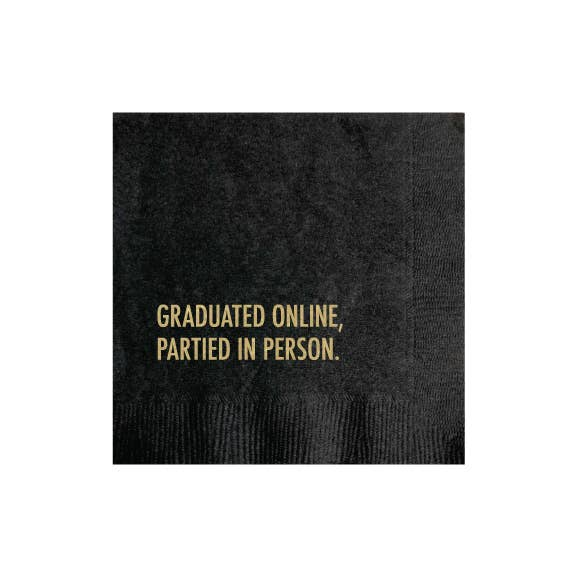 Pretty Alright Goods - Graduated Online Napkin Graduation Party
