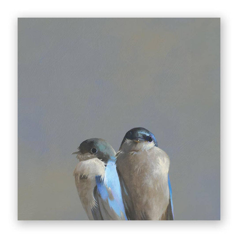 The Mincing Mockingbird - 10 x 10 Swallow Pair Panel Wings on Wood