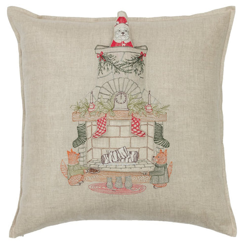 Chimney Santa Pocket Pillow