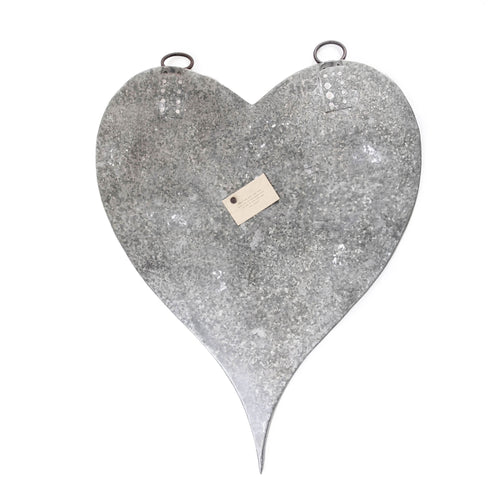 Large Zinc Heart with Magnets