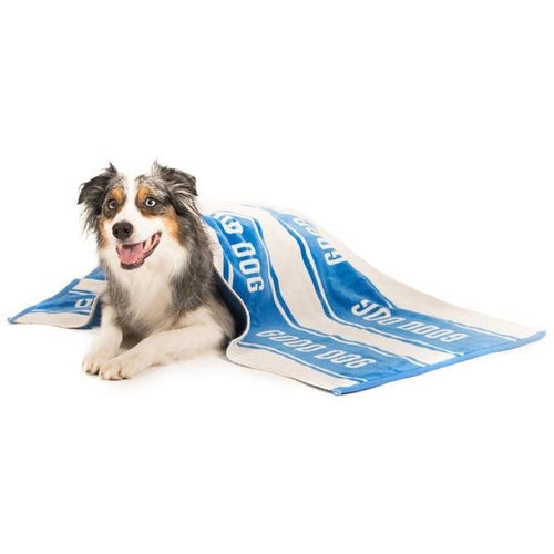 Large Good Dog Eco Towel, emerald