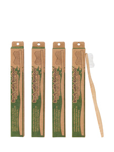 Brush with Bamboo, Adult 4-pack