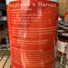 Load image into Gallery viewer, Neptune's Harvest Tomato & Veg Formula