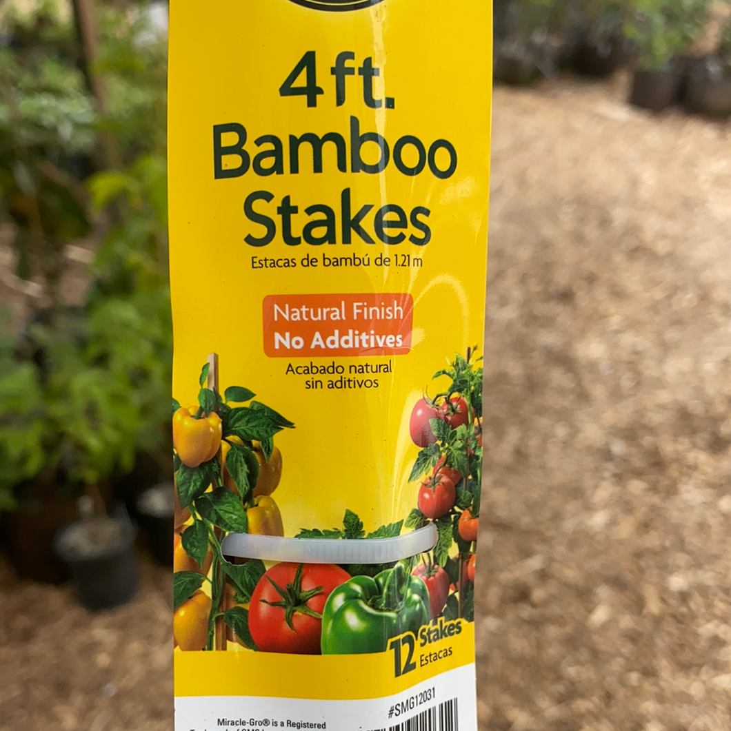 Bamboo Stakes - 4ft (bundle of 12)