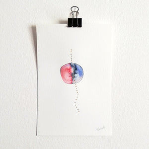 Uno nº 1 - Original watercolor