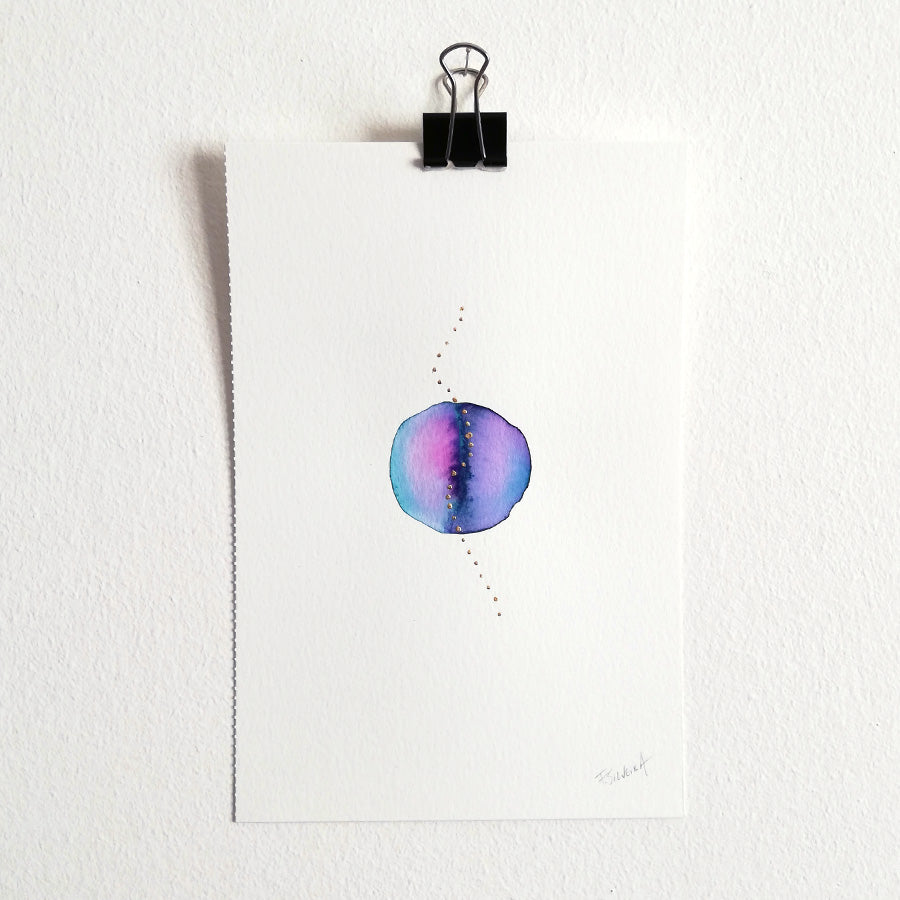 Uno nº 10 - Original watercolor