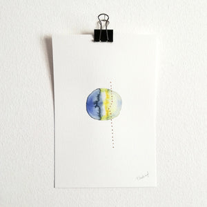 Uno nº 14 - Original watercolor