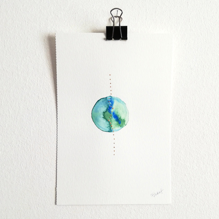 Uno nº 15 - Original watercolor