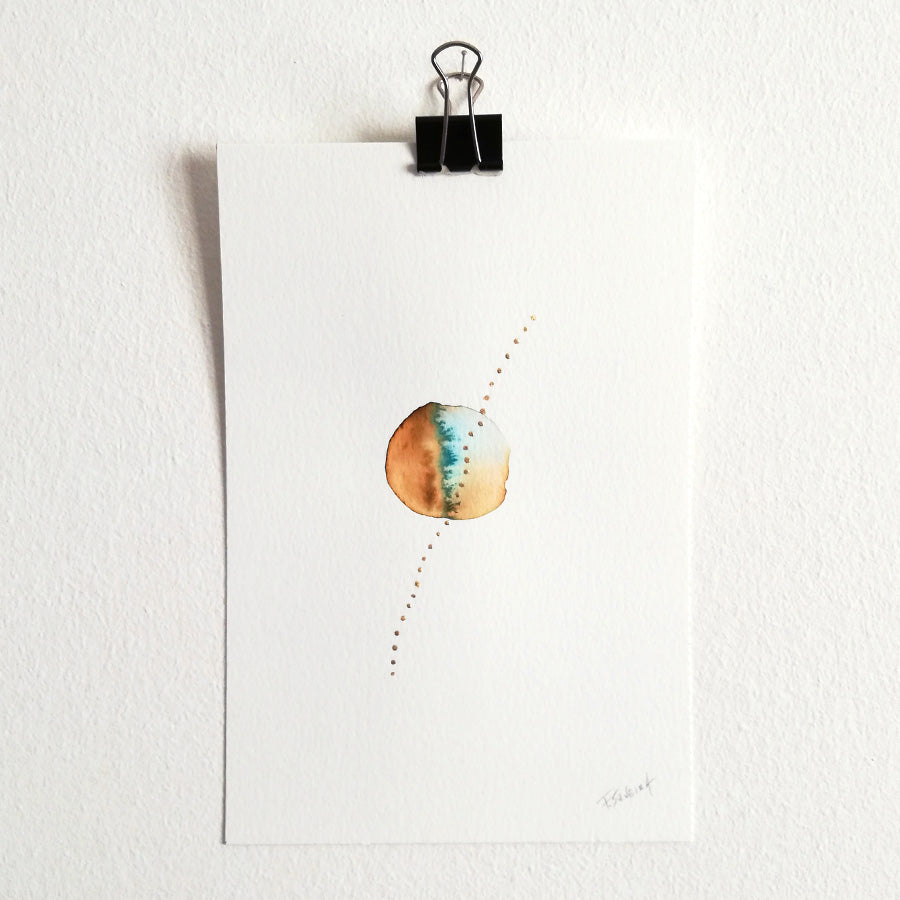 Uno nº 17 - Original watercolor
