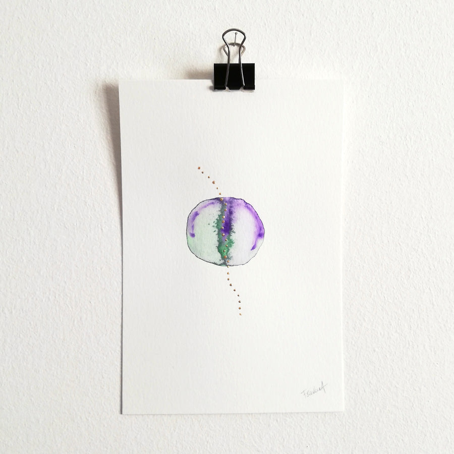 Uno nº 19 - Original watercolor