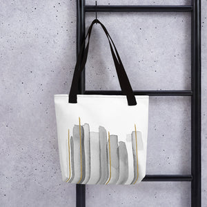 Tote bag - Vertical lines with gold (Exclusive Edition)