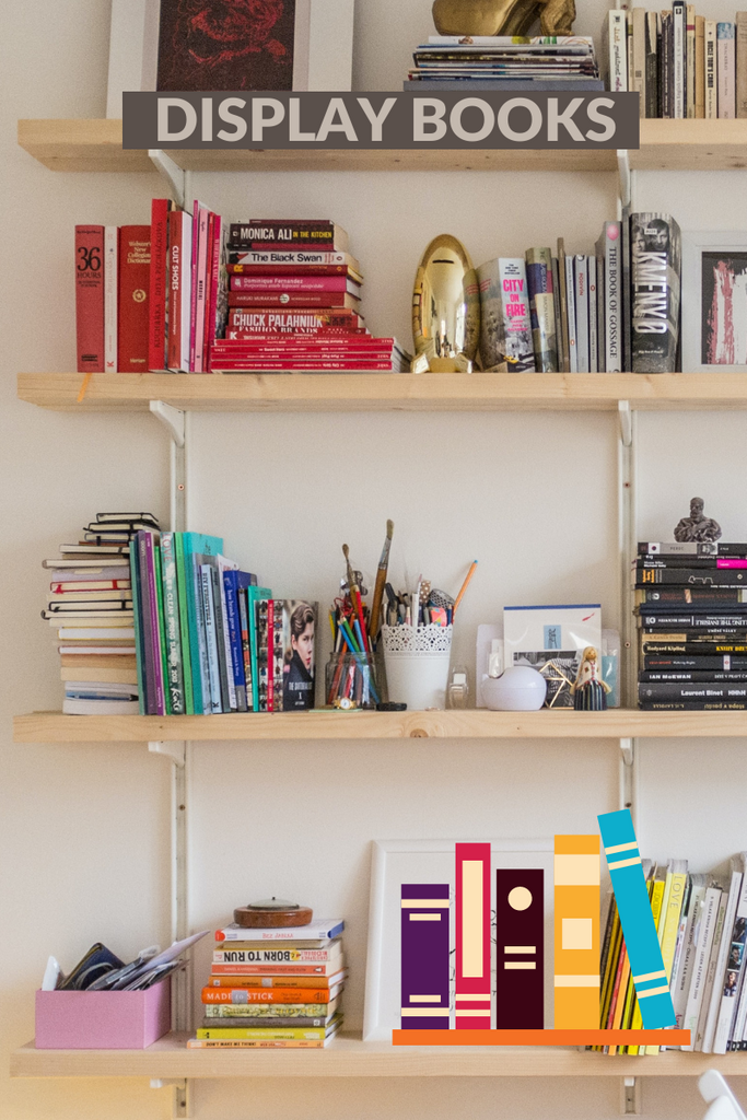 display your books and magazines on your open shelves