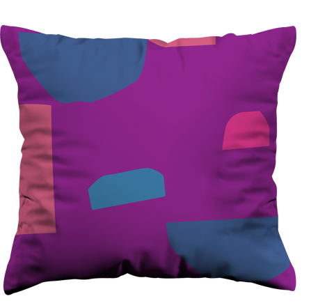 bold and colourful throw pillows