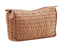 Load image into Gallery viewer, MUSTARD QUILTED WASH BAGS