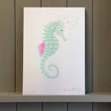 Load image into Gallery viewer, SEAHORSE RISO PRINTS