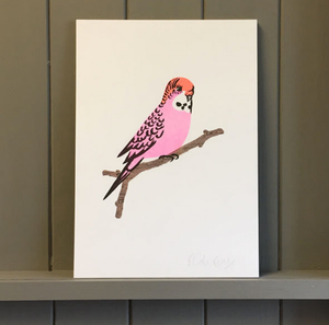 PINK BUDGIE RISO PRINTS