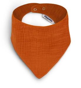 BURNT ORANGE COTTON BIB