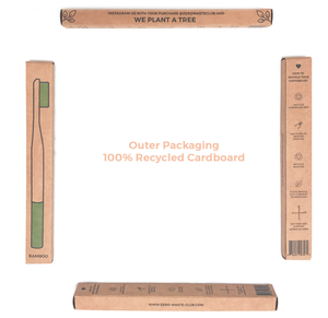 BLACK Zero Waste Bamboo Toothbrush